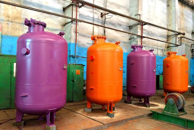 Аппараты емкостные вертикальные для газовых углеводородных сред