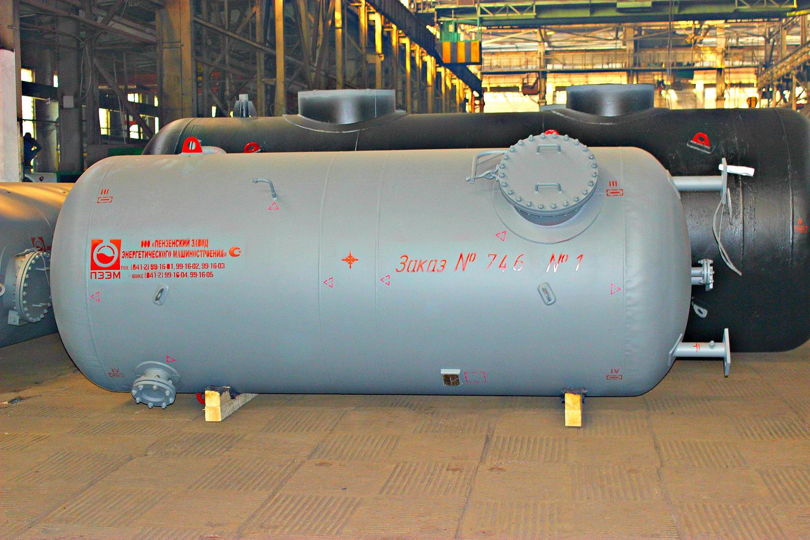 Воздухосборники и ресиверы газа